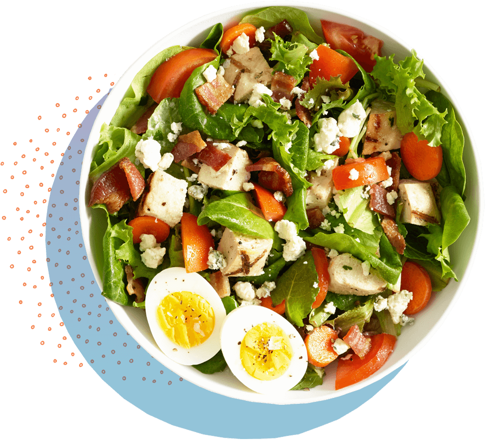 egg and bacon spinach salad