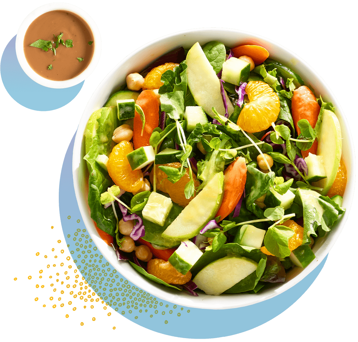 mandarin orange and apple salad with balsamic dressing