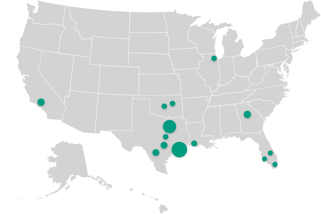 Map Showing Salata Locations